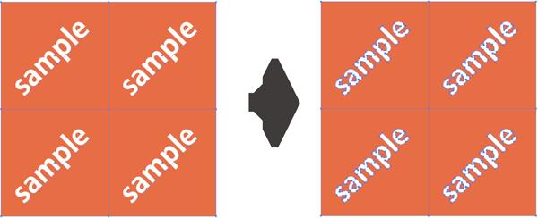 パターンにおけるアウトライン化イメージ